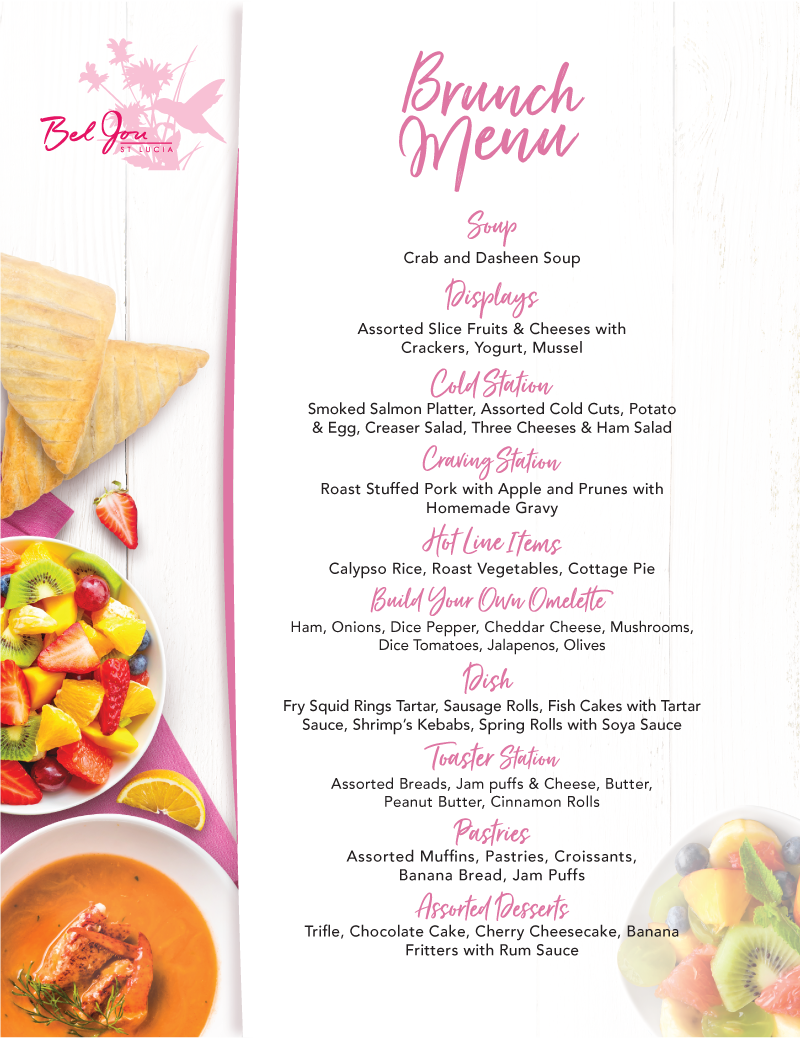 2019 BJ Brunch Menu